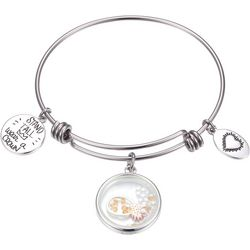 Footnotes Stand Tall Pineapple Charm Bangle Bracelet