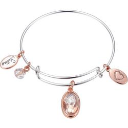 Footnotes Two Tone Sisters Butterfly Charm Bangle Bracelet