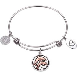 Footnotes High Tide Low Tide Dolphin Charm Bangle Bracelet