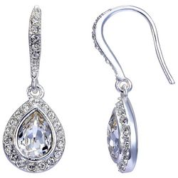 Shine Clear Crystal Elements Teardrop Earrings