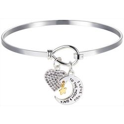 Footnotes I Love You To The Moon Charm Bangle
