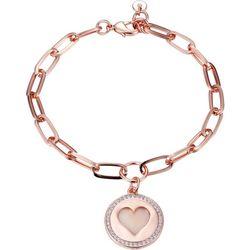 Jolie Femme MOP Open Heart Sister Charm Bracelet