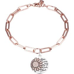 Jolie Femme Two Tone Happy Flower Charm Bracelet