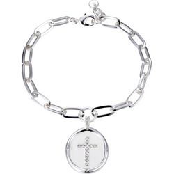 Jolie Femme Faith He Is Love Charm Bracelet