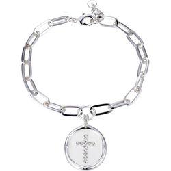 Jolie Femme Faith He Is Love Charm Bracelet