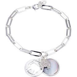 Jolie Femme MOP & Elephant Lucky Charm Bracelet