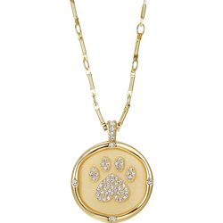 Jolie Femme Pet Pawprint Who Saved Who Necklace
