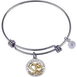 Footnotes Mom Always & Forever Charm Bangle Bracelet