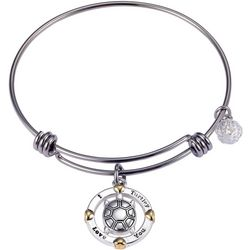 Footnotes I Turtley Love You Charm Bangle Bracelet