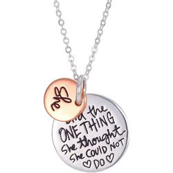 She Rocks She Did The One Thing Charm Necklace