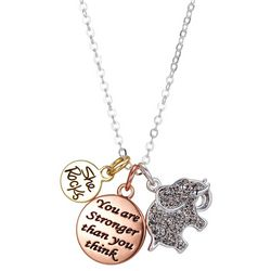 She Rocks Strong Is Beautiful Charm Necklace