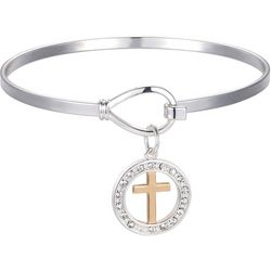 Gratitude & Grace Faith In God Cross Charm Bangle