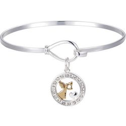 Gratitude & Grace Angel From Above CZ Charm Bangle