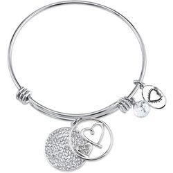 Footnotes Always My Mother Charm Bangle Bracelet