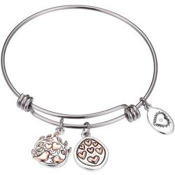Footnotes Precious Grandma Two Tone Charm Bangle Bracelet