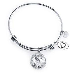 Footnotes Mom - Thank You Charm Bangle Bracelet