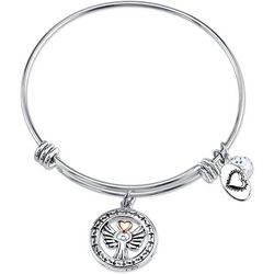 Footnotes Angels Above Watch Over Charm Bangle Bracelet
