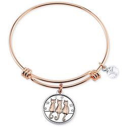 Footnotes Time Spent With Cats Charm Bangle Bracelet