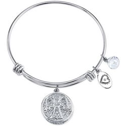 Footnotes Angel Wherever You Go Charm Bangle Bracelet
