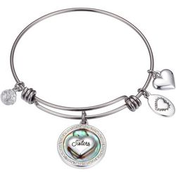 Footnotes Boxed Sisters Charm Bangle Bracelet