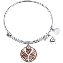 Footnotes Friends Are Angels Charm Bangle Bracelet