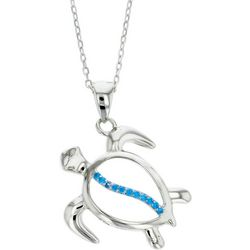 Nautical by Nature Aqua Blue Sea Turtle Pendant Necklace