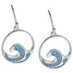 Nautical by Nature Aqua Blue Wave Drop Earrings