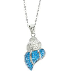 Nautical by Nature Aqua Blue Shell Pendant Necklace