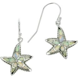 Nautical by Nature Faux White Opal Starfish Earrings