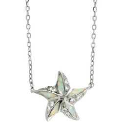 Nautical by Nature Faux Opal Starfish Pendant Necklace
