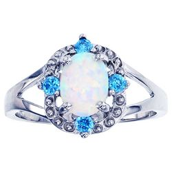 Nautical by Nature Faux White Opal Ring