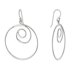 Piper & Taylor Swirl Drop Earrings