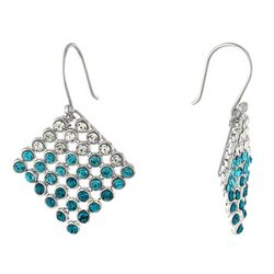 Piper & Taylor Ombre Crystal Mesh Drop Earrings