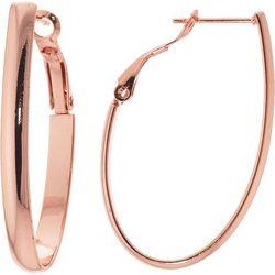Starfish Box 40mm Rose Gold Tone Hoop Earrings