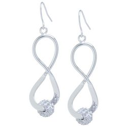 Lily Maris Rhinestone Ball Infinity Earrings