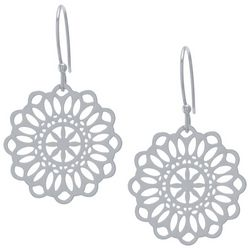 Lily Maris Silver Tone Filigree Dangle Earrings
