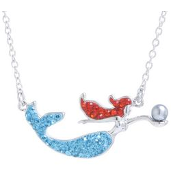 Florida Friends Swimming Mermaid Pendant Necklace