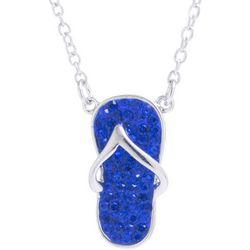 Florida Friends Blue Flip Flop Pendant Necklace