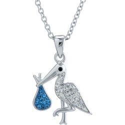 Florida Friends Blue Stork Pendant Necklace