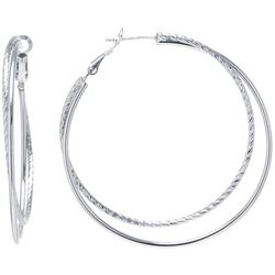 Lily Maris Large Double Row Hoop Earrings