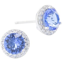 Crystals from Swarovski Halo Stud Earrings