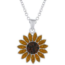 Florida Friends Crystal Elements Sunflower Pendant Necklace