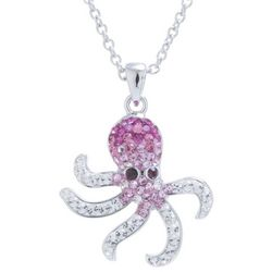 Florida Friends Crystal Elements Octopus Pendant Necklace