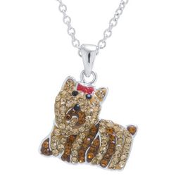 Florida Friends Crystal Elements Dog Pendant Necklace