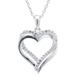 Florida Friends Double Heart Pendant Necklace