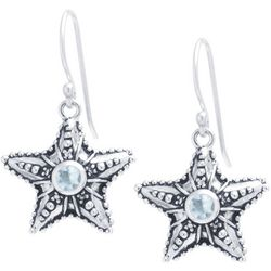 Sora Silver Tone Starfish Drop Earrings