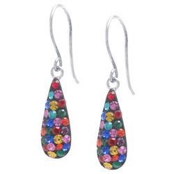Sterling Earrings Colorful Crystal Teardrop Earrings