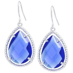 Beach Chic Blue Stone Teardrop Earrings