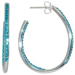 Beach Chic Aqua Blue Rhinestone Inside Out J