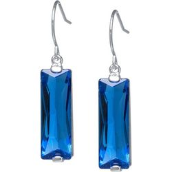 Lily Maris Blue Vertical Rectangle Earrings